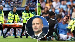 Aymeric Laporte Taken Off On Stretcher With Knee Injury In Blow For Manchester City
