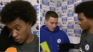 Eden Hazard Did Something Very Special During His Post-Match Interview, Last Night