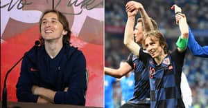 Luka Modric Gets Press Conference Surprise As Wife, Father And Ex-Teammates Ask The Questions
