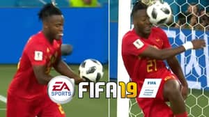 Fans Vote For Michy Batshuayi's Ball In The Face Celebration To Be On FIFA 19