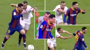 Joan Jordan's Last-Ditch Effort To Stop Lionel Messi Hilariously Involved Him Trying To Grab His Shirt