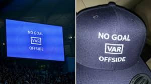 Spurs Fan Creates Cap Celebrating VAR Offside Decision