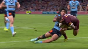Brian To'o's Brilliant Try-Saving Tackle Sums Up New South Wales' Gritty Defence