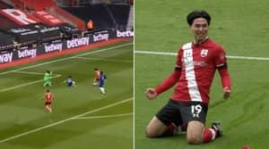 Takumi Minamino Sends Azpilicueta For A Hotdog To Give Southampton The Lead Vs Chelsea