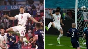 John Stones' Gravity-Defying Leap vs Scotland Has Left England Fans Stunned