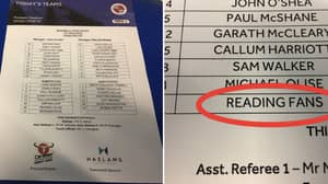 Reading Name Their Own Fans As A Substitute Against Leeds United