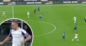 Franck Ribery Slices Apart Inter Milan's Defence With An Unbelievable Assist For Fiorentina
