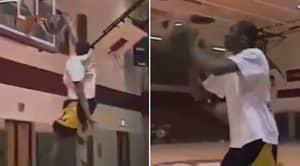 Rare Footage Of 15-Year-Old Kobe Bryant Lighting Up School Dunk Contest