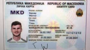 Chelsea Striker Timo Werner Has 'Received' A North Macedonian Identity Card Out Of Gratitude' Following Shocking Miss