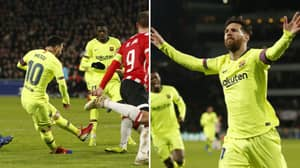 Lionel Messi Scores Typically Brilliant Goal In Champions League