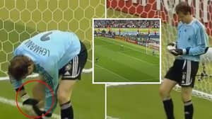 When Jens Lehmann Pulled The 'Cheat Sheet' From His Shin-Pad For Every Penalty Of Shoot-Out