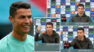Cristiano Ronaldo's Reaction To Coca-Cola Bottles At Portugal's Euro 2020 Conference Is Priceless