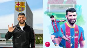 Sergio Aguero Officially Completes Free Transfer To Barcelona