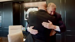 WATCH: The Moment Kurt Angle Was Reunited With Vince McMahon After Eleven Years
