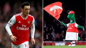 Mesut Ozil Offers To Pay Wages Of Recently Sacked Arsenal Mascot Gunnersaurus