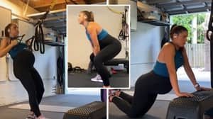 USWNT Player Alex Morgan Is Still Working Out While Nine Months Pregnant