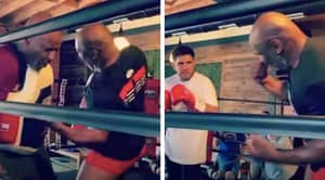 Mike Tyson Shows Henry Cejudo How To Land His Vicious Uppercut In New Training Video
