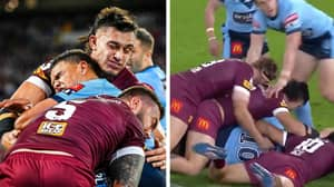 The First Four Minutes Of State Of Origin Game 2 Produced Some Bone-Crushing Tackles