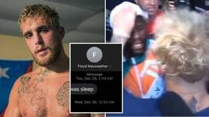 Jake Paul Mocks Floyd Mayweather With DM Before Tyron Woodley Fight