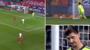 Belgium Goalkeeper Thibaut Courtois Just Had An Absolute Shocker vs Denmark