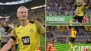 8K Video Of Erling Haaland Celebrating With Dortmund Fans Looks Like It Came Straight Out Of FIFA