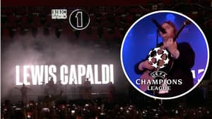 Lewis Capaldi Comes Out To Champions League Anthem At BBC Radio 1 Big Weekend