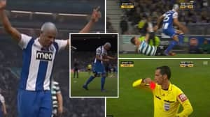 When FC Porto Midfielder Fernando Celebrated Wildly After Referee Gave Him A Red Card