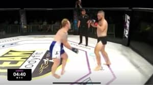 Aussie MMA Fighter's Leg Instantly Breaks After Copping Devastating Calf Kick