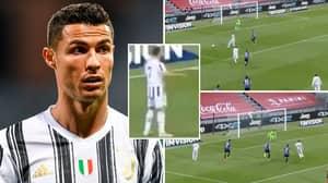 Cristiano Ronaldo 'Robbed' Of Incredible Backheel Assist As Juventus Teammates 'Let Him Down Again'