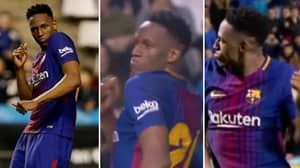 Watch: Barcelona's Yerry Mina Celebrated His Penalty By Busting Out Some Shapes