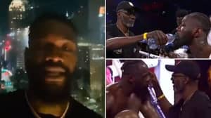 Deontay Wilder Sensationally Claims His Water Was 'Spiked' Before Tyson Fury Rematch