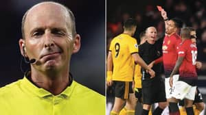 Mike Dean Becomes The First Referee In Premier League History To Show 100 Red Cards