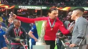 WATCH: Marcos Rojo Get Brutally Pied-Off By Zlatan Ibrahimovic