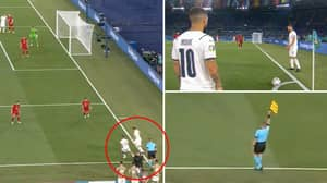 Italy's Bizarre Corner-Kick Routine Against Turkey That Was Flagged For Offside Has Confused Everyone