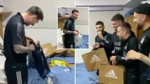 Argentina Squad Wake Up Lionel Messi And Surprise Him With Gifts On 34th Birthday