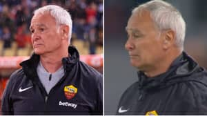 Claudio Ranieri In Floods Of Tears As Roma Fans Sing His Name And Reveal Banner