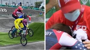 Heartbreaking Scenes As Aussie BMX Rider Saya Sakakibara Is Stretchered Off After Scary Crash