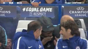 Victor Moses Was Trolled By Chelsea Teammates On The Bench After Zappacosta's Worldie