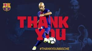 Barcelona Confirm That Javier Mascherano Will Leave The Club This Month