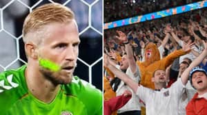 England Given Punishment For Laser Pointer At Kasper Schmeichel During Harry Kane Penalty