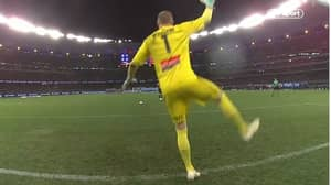 Goalkeeper Wins A-League Final With Incredible Penalty Saving Technique