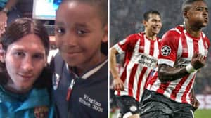 PSV's Steven Bergwijn Met Lionel Messi In 2008, He'll Come Up Against Him Tomorrow