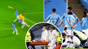 Manchester City's Eric Garcia Carried Off On Stretcher After Horror Collision With Ederson