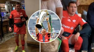 Saracens Player Alex Goode Was Still Out In Full Kit, 24 Hours After Winning Champions Cup