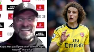 Jurgen Klopp Accused Of Aiming 'Harsh Dig' At David Luiz After Liverpool's 2-1 Defeat To Arsenal