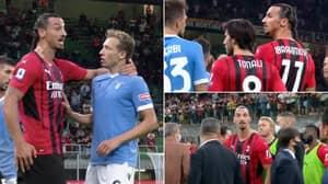 Zlatan Ibrahimovic Manhandles Lucas Leiva, No Lazio Players Dared To Confront Him