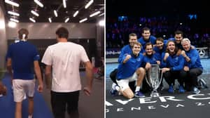 Roger Federer's Sweary Motivational Chat Leads Europe To Laver Cup