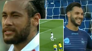 Neymar Asks The Goalkeeper Which Corner To Shoot In - Before Pulling Off Brilliant Pass-Penalty