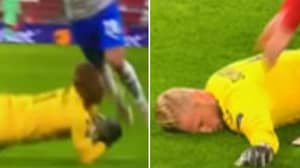 Kasper Schmeichel Subbed Off After Frightful Clash To The Head For Denmark