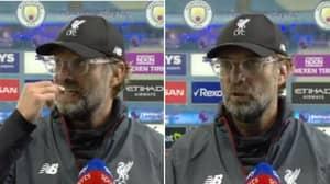 Jurgen Klopp Got A Bit Salty After Liverpool's Loss To Manchester City